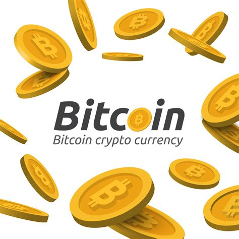 golden bitcoin sign  white background