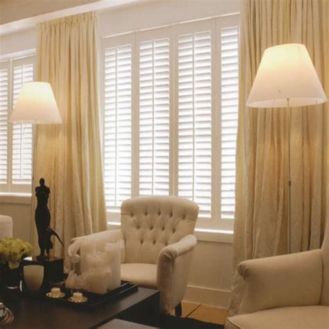 plantation shutters curtains together curtain