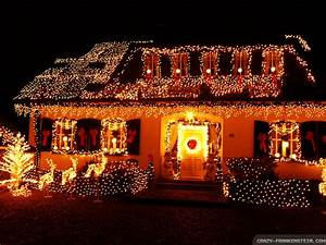 Christmas Decorated Houses Architecture Wallpapers Hd