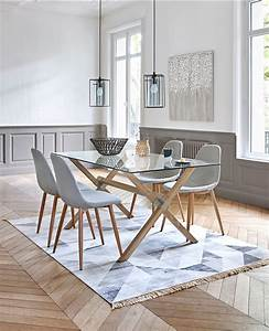Ensemble Salon Scandinave : table ronde volets malena blanc boire manger et tons bleus ~ Teatrodelosmanantiales.com Idées de Décoration