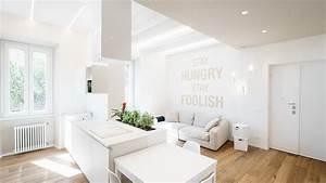 Minimalist, Apartment, With, All-white, Interior, In, Rome, By, Brain, Factory