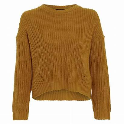 Jumper Mustard Knitted Gold Damned Cesca Delux