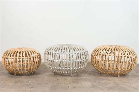 Large Rattan Ottoman By Franco Albini For Sale At Stdibs