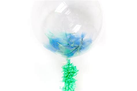 Feather Filled Bubble Balloons How Fill