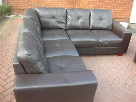 brown leather settee sale brown leather corner sofa for sale dudley dudley