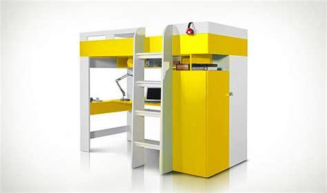 lit combiné armoire bureau combin lit en mezzanine jaune avec bureau armoire et dressing