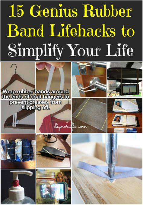 genius rubber band lifehacks  simplify  life