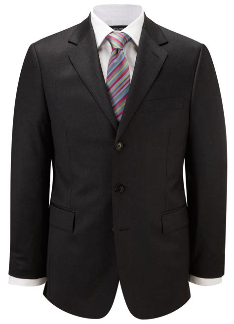 austin reed classic fit gabardine suit jacket  gray
