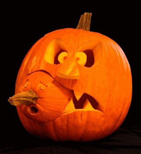 two parts pumpkin carving layouts   Pumpkin Carving Wizards   Pinterest