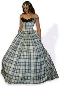 Scottish Tartan Wedding Dress