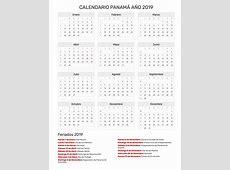 Calendario Panamá Año 2019 Feriados