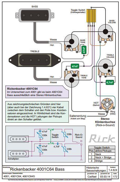 Rickenbacker Bas Wiring Diagram by Ric Bass Wiring Diagrams Talkbass