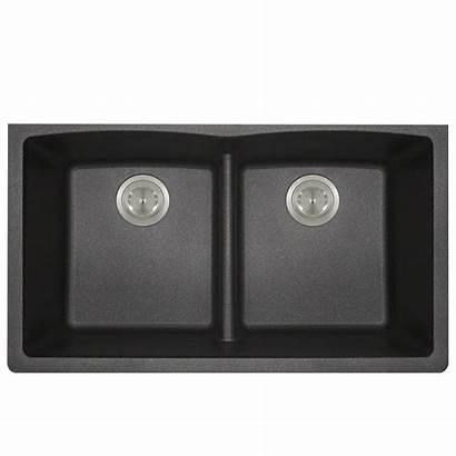 Undermount Kitchen Sink Granite Composite Double Basin