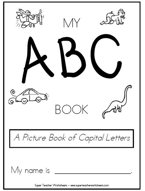 printable book  capital letters