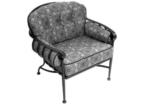 meadowcraft athens wrought iron seating lounge chair