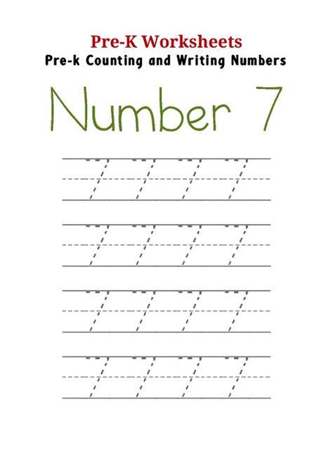 number  worksheets  preschools activity shelter