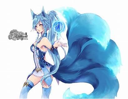 Anime Fox Legends Neko League Render Drawing