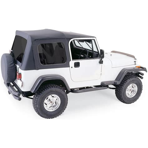 jeep new black rage soft top new black jeep wrangler 1987 1995 68035