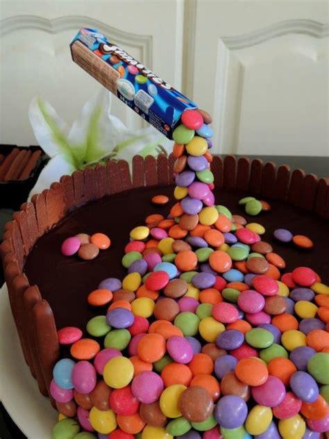diy gravity cake aux smarties deco bolos bolo  deco