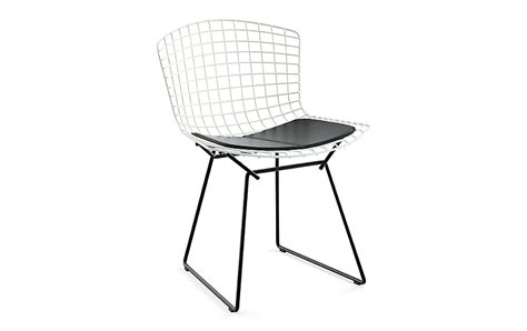 bertoia two tone side chair with seat pad design within