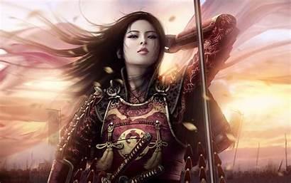 Samurai Fantasy Warrior Dark Asian Wallpapers Desktop
