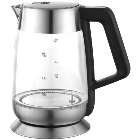 electric kettle temperature control cordless ovente illuminated stainless 8l kettles glass tea cup steel depot homedepot