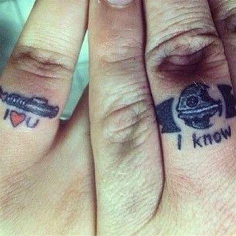 sweet wedding ring tattoos