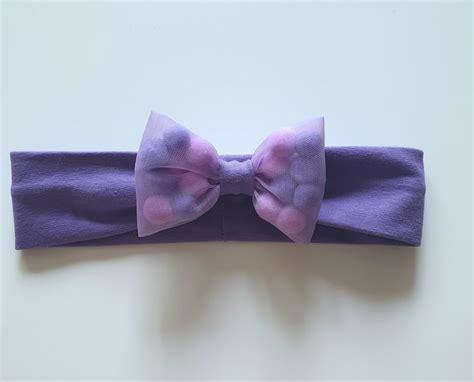 Matu lenta - violetais košums - Matu lentas - E-veikals - amaliihandmade.lv
