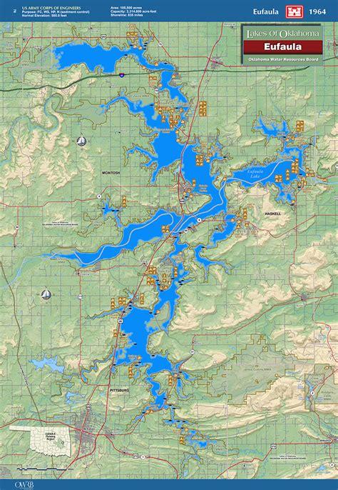 Lake Eufaula Map Of Lake Eufaula Oklahoma