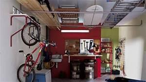 Rangement Plafond Garage : 10 trucs pour organiser votre garage efficacement ~ Melissatoandfro.com Idées de Décoration