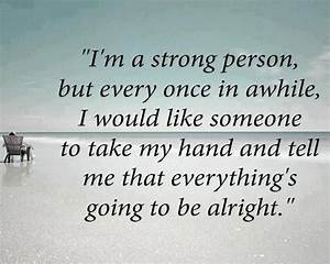 I am a strong person | Love Quotes And Covers