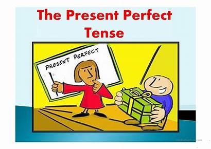 Tense Present Perfect Clipart Grammar Past Simple