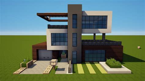 Großes Modernes Haus by Minecraft Gro 223 Es Modernes Haus Bauen Tutorial Haus 79