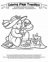 Tea Coloring Party Pages Teddy Bear Picnic Drawing Boston Fancy Print Nancy Colouring Adult Sheets Birthday Cute Bears Adults Dulemba sketch template