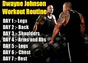 Dwayne Johnson Workout Routine Pain And Gain