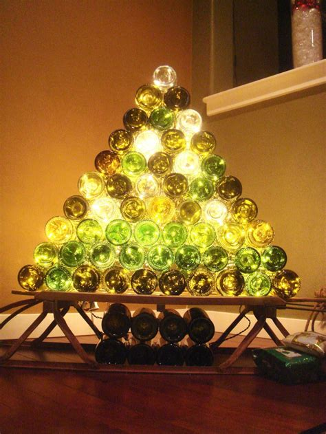 beer  wine inspired diy christmas decorations