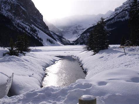 lake louise winter frozen  photo  pixabay