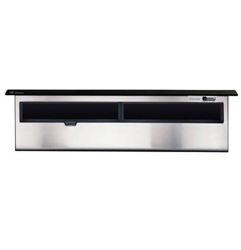 ge monogram  black telescopic downdraft vent hood zvbbbbb ge appliances