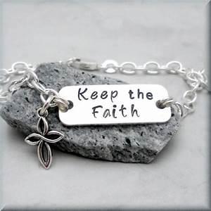 keep the faith bracelet inspirational jewelry