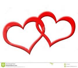 Two Joined Red Hearts Together