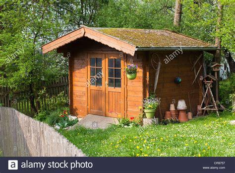 german shed wooden garden shed in garden bavaria germany