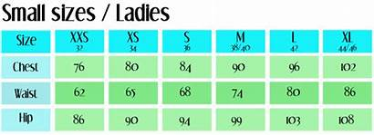 Chart Sizes Clothes Eu Smaller Clothing Charts