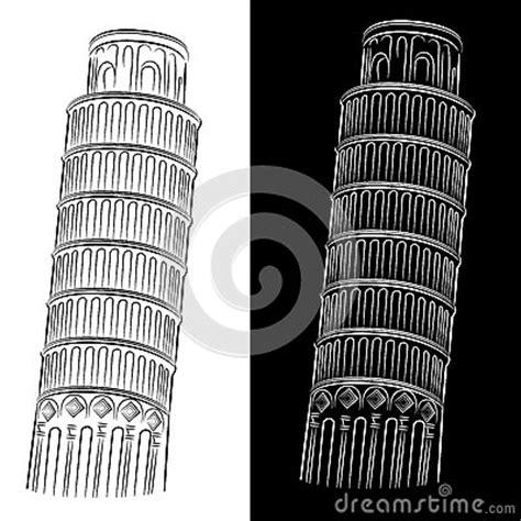 toren van pisa tekening leunende toren van de tekening van pisa royalty vrije