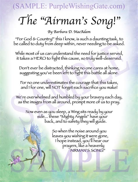 Structures and styles, as well as adding layers of meaning to poems, became very popular. THE AIRMAN'S SONG: Framed and Personalized Poem, Gifts for Sale! - PurpleWishingGate.com