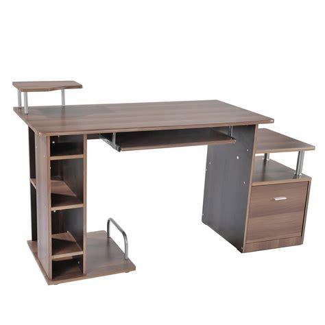 planet bureau mesa de ordenador planet en madera color nogal mesa para