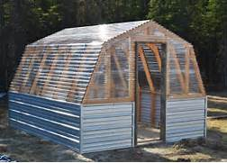 Build Small Greenhouse Barn Green House