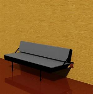 wall mounted sofa bed 3d dwg With wall mounted sofa bed