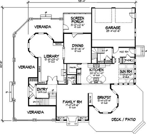 Victorian Style House Plan   4 Beds 5 Baths 4161 Sq/Ft