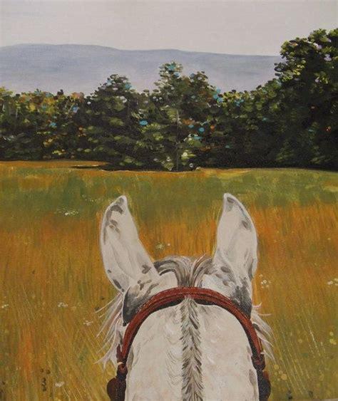 arabian horse acrylic painting giclee fine art