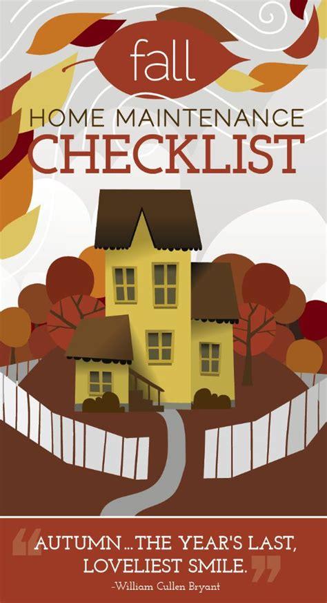 Fall Home Maintenance Checklist [infographic] Httpwww